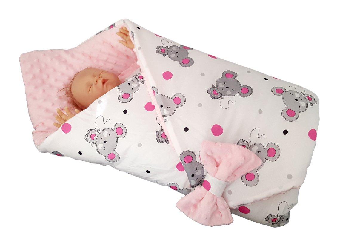 blueberryshop Minky Reversible asiento de coche para/manta para bebé (para recién nacido, color rosa: Amazon.es: Bebé