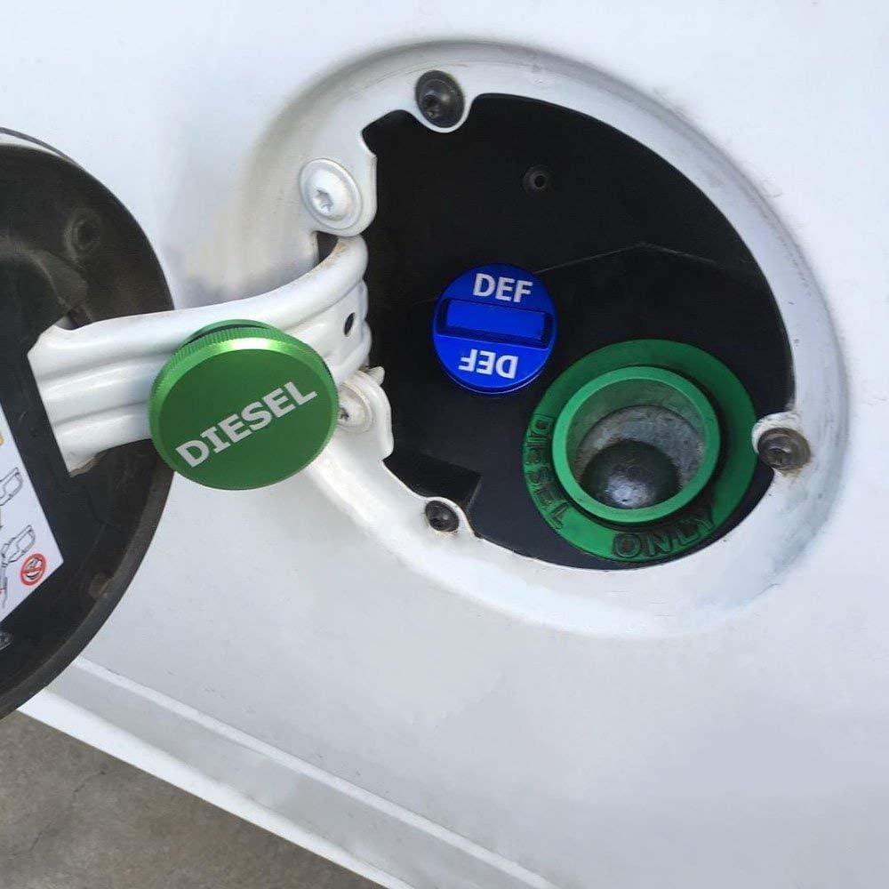 (Hidden-Strong magnetism) Ram Diesel Aluminum Fuel Cap and DEF Cap Combo for 2013-2018 Dodge Ram Truck 1500 2500 3500 /… /… Easy to hold,Diesel Fuel tank Cap for Dodge