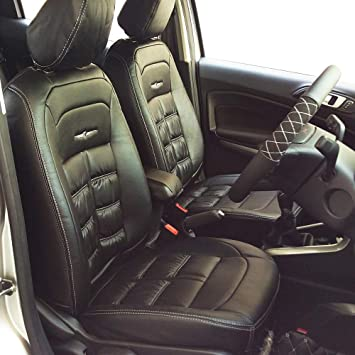 Leather Jeep Seats >> Elegant Nappa Grande Black Art Leather Seat Cover For Jeep