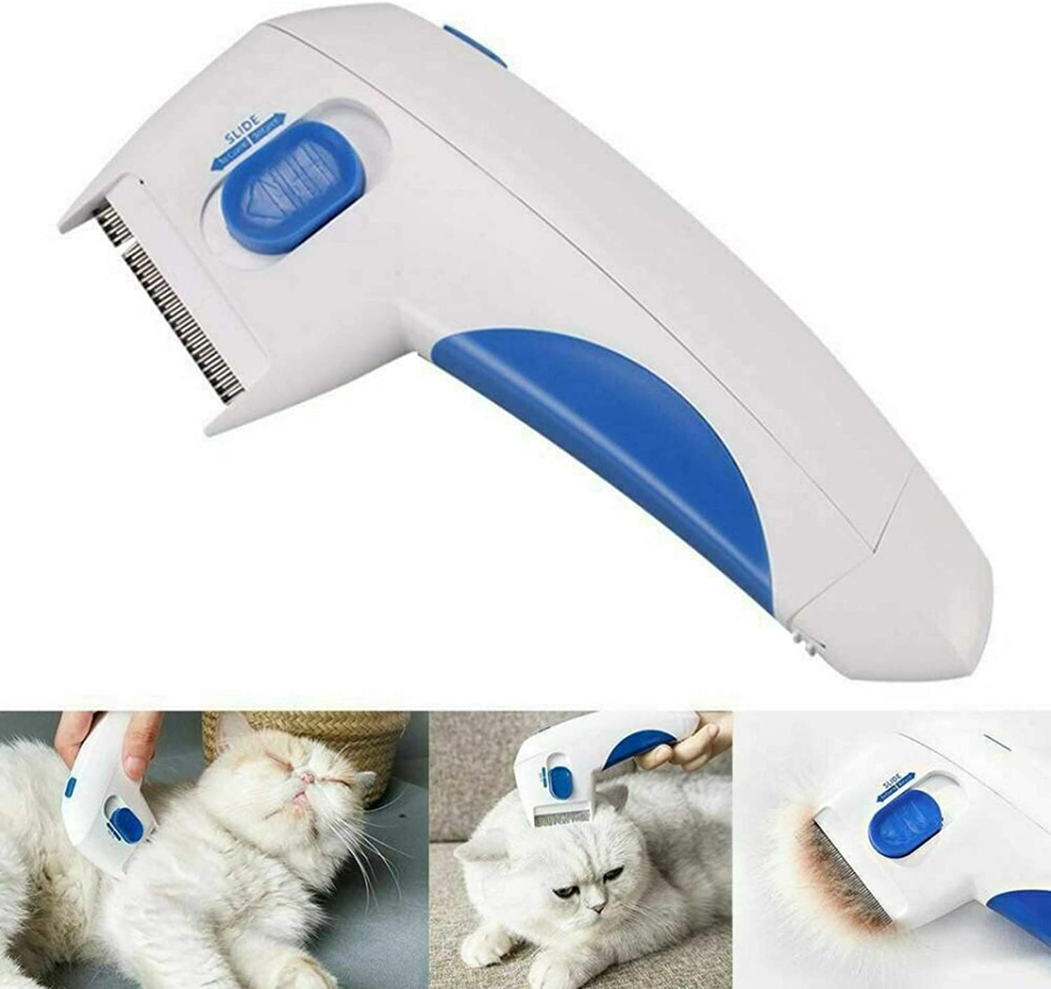 Electronic Comb Flea Electronic Flea Comb Perfect for Dogs /& Cats LOVIVER Flea Comb for Pets Electric Flea Comb Pet Flea Comb Fleas Remover