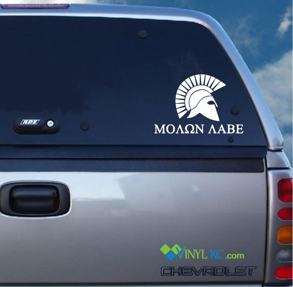 AR15 - Molon labe Spartan Decal - Come and Take it! VinylKC