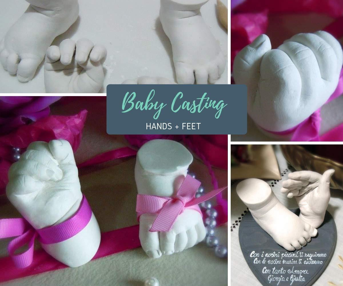 3D Kit Huella Niños Familias Adultos Kit 3D Completo de Alginato para Moldes de Manos y Yeso, Envase y Herramientas| Fácil Elaboración, Esculturas Realistas ...