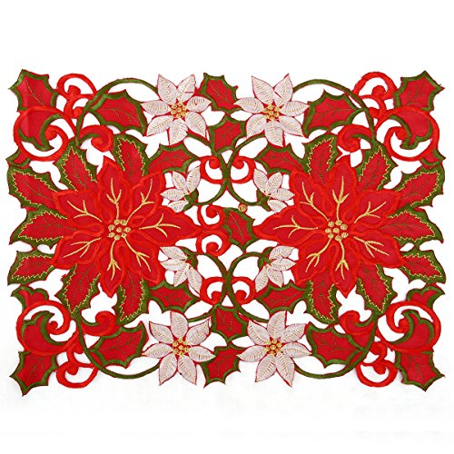 Christmas Holidays Placemat 12 × 18 Inch Set Of ()