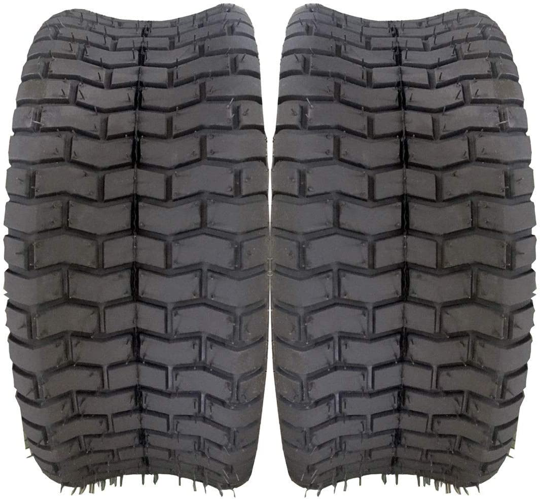Set of 2 D-265 16x6.50-8 Turf Tires 4 Ply 16-by-6.50-by-8 Tubeless Tires Fit For Garden Tractor Lawn Mower
