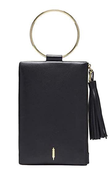 d035b3fb4 THACKER Women's Nolita Clutch Black/Gold One Size: Handbags: Amazon.com
