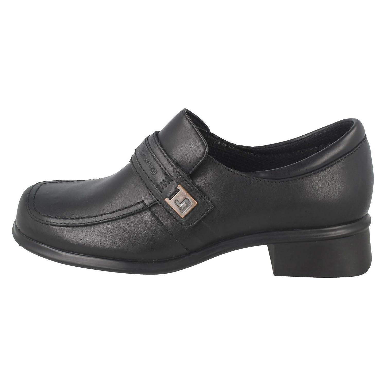 f6c98c7ed01 Clarks Girls Bootleg Chunky Heel School Shoes Nominate  Amazon.co.uk  Shoes    Bags