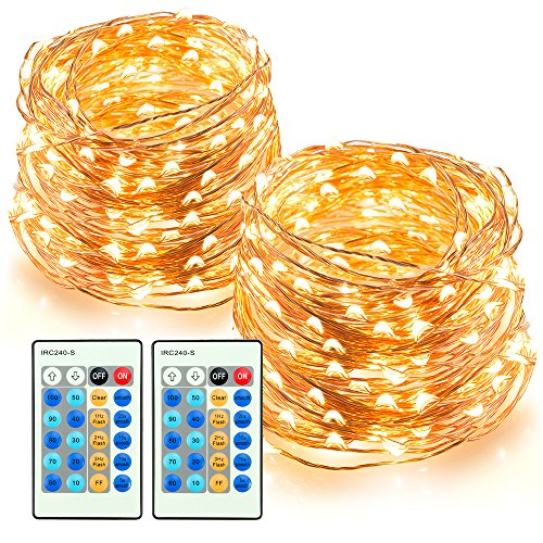TaoTronics LED String Lights 66ft 200 LEDs Dimmable Festival Decorative Lights for Seasonal Holiday, Complete...