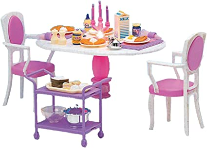 Amazon Com 1 6 Scale Dollhouse Furniture Dining Table Chairs And Accessories Set 12inch Doll House Decoration Fairy Garden Diy Supplies Toys Games