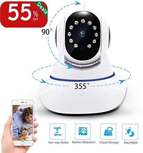 Security Camera,WiFi PTZ Camera,FHD 1080P IP Camera with Night Vision Two Way Audio,Motion Detection,Auto Motion Tracking,Home Security Camera for Baby Monitor Elder Care Pet Nanny Camera