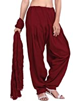 Priyaas Women's 100% cotton Semi Patiyala Salwar and Dupatta Set Combo