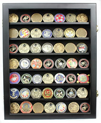 Amazon com : Lockable Challenge Coin Display Case Casino
