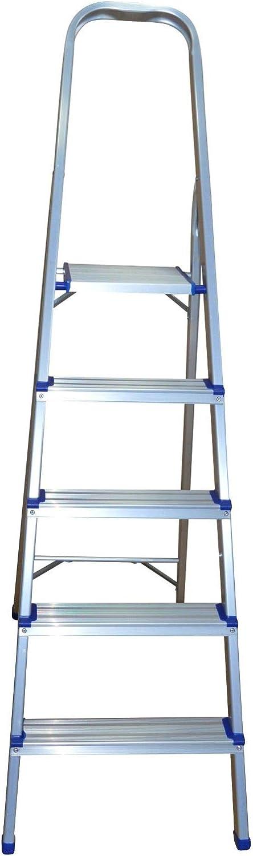 Haushaltsleiter aus Aluminium Stehleiter mit 5 Stufen