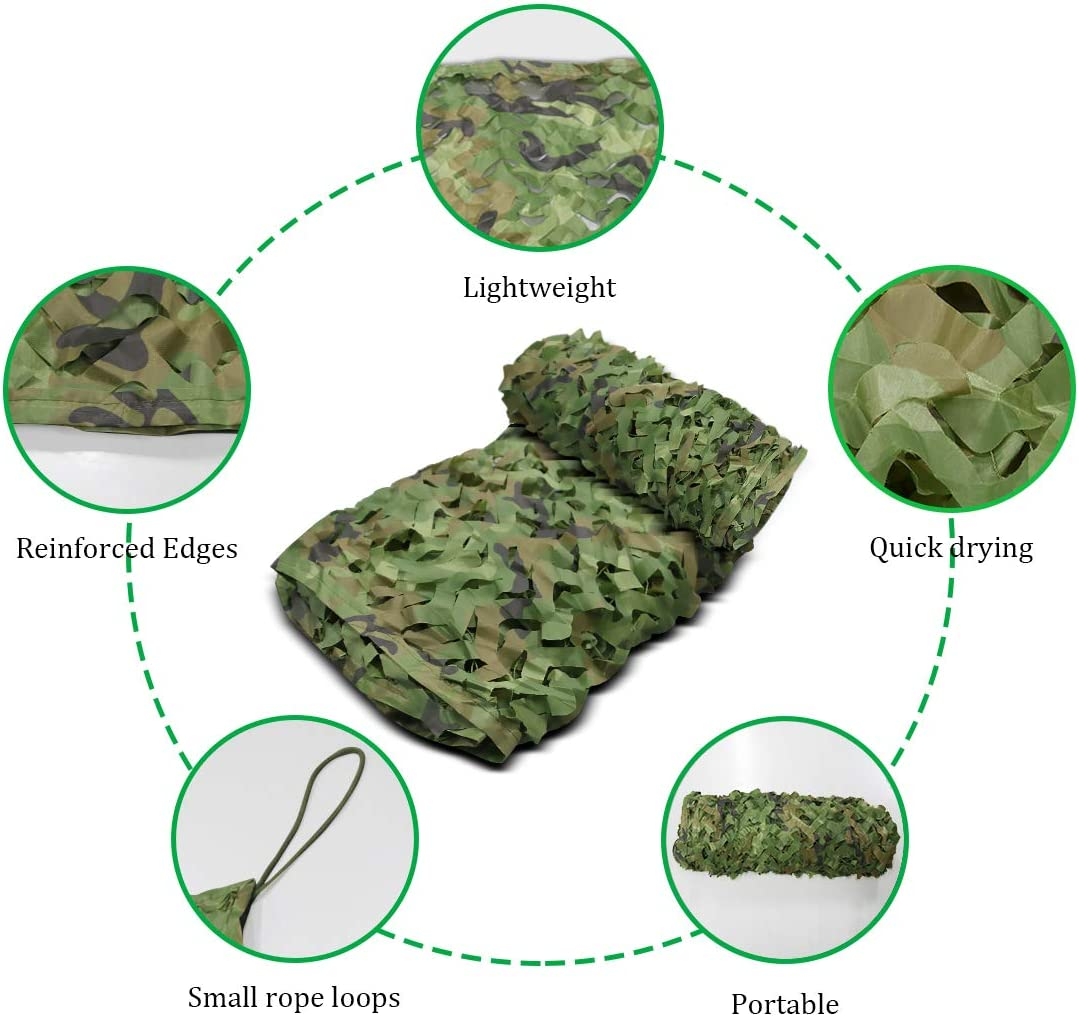 6 * 10ft Size : 2 * 3m 2X3m Camo Net Masque Jungle D/ésert Camo Filet Woodland Camouflage Net Oxford Tissu Camouflage Filet Camping Arm/ée Tir Chasse Cl/ôtures Militaire Photographie