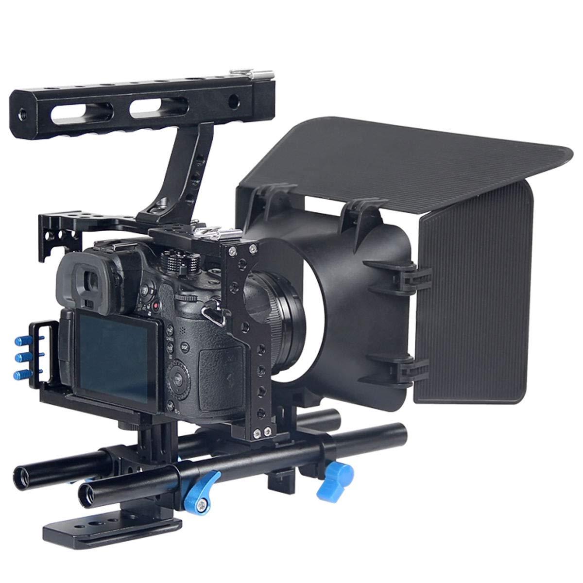 FidgetFidget Stabilizers for DSLR Camera Cage + Follow Focus + Matte Box Kit for Sony A7S A7 A7R A7RII A7SII by FidgetFidget (Image #4)