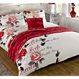 Odette Red Quilt Bed in a Bag set Single Double King Size Super King Size