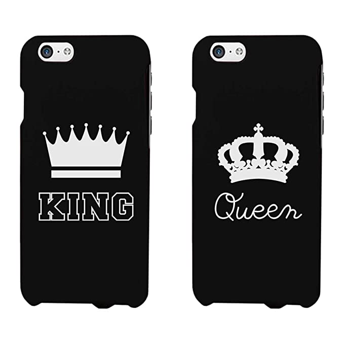 huge selection of 254d8 44854 365 Printing King and Queen Black Matching Couple Phone Cases Anniversary  Gift Wedding Gift