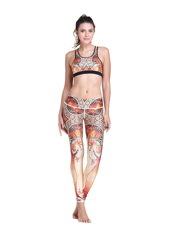 Cartiar Stretch & Breathable Anti-shock Exotic Tank Pants Yoga Bodysuit