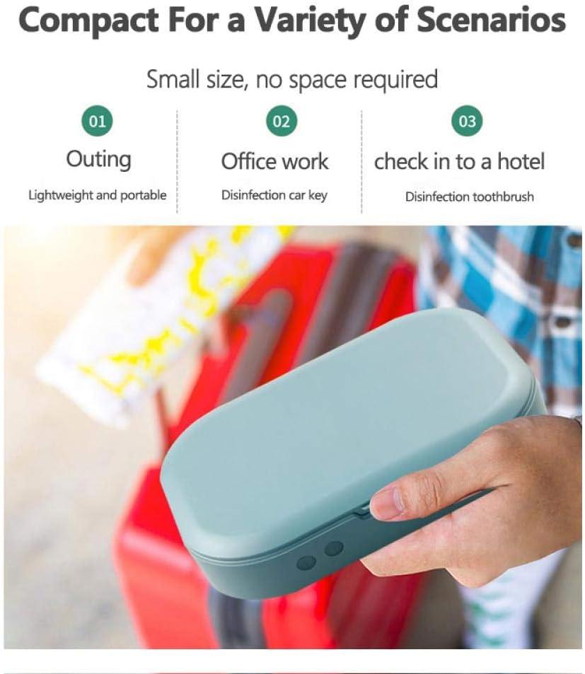 Mode Uv St/érilisateur Bo/îte Uv Ozone Mobile T/él/éphone Masque D/ésinfection St/érilisateur Sans Fil Rapide Chargeur Brosse /À Dents Bo/îte St/érile