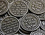 Set of 10 One Day at a Time Pocket Token Coins