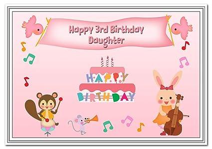3er cumpleaños tarjetas para niñas - 3 años niña pequeña ...