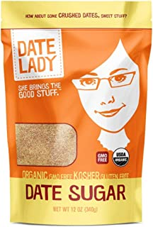 product image for Organic Date Sugar, 12 oz | 100% Whole Food Sweetener | Vegan, Paleo, Gluten-free & Kosher | 100% Ground Dates | Contains Fiber from the Date (1 Bag)