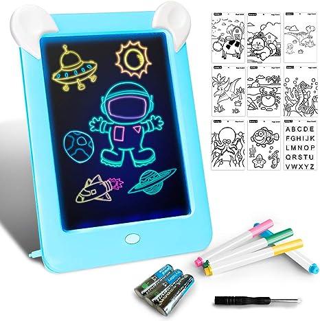 Tableta de Dibujo Pizarra 3D Mágico con Luces LED Educativo ...