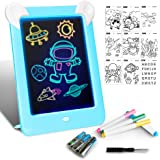 LAPPAZO Tableta de Dibujo Pizarra 3D Mágico con Luces LED Educativo Infantil Dibujo & Marco de Fotos Regalos Juguetes…