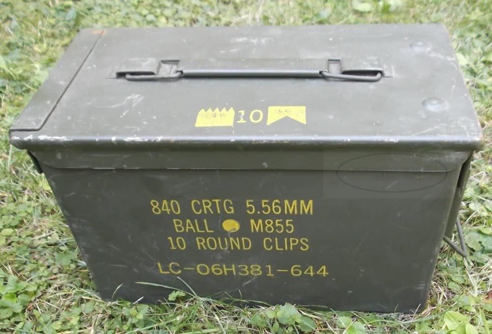 Army - Caja de munición de metal, diseño de EE.UU.: Amazon.es ...