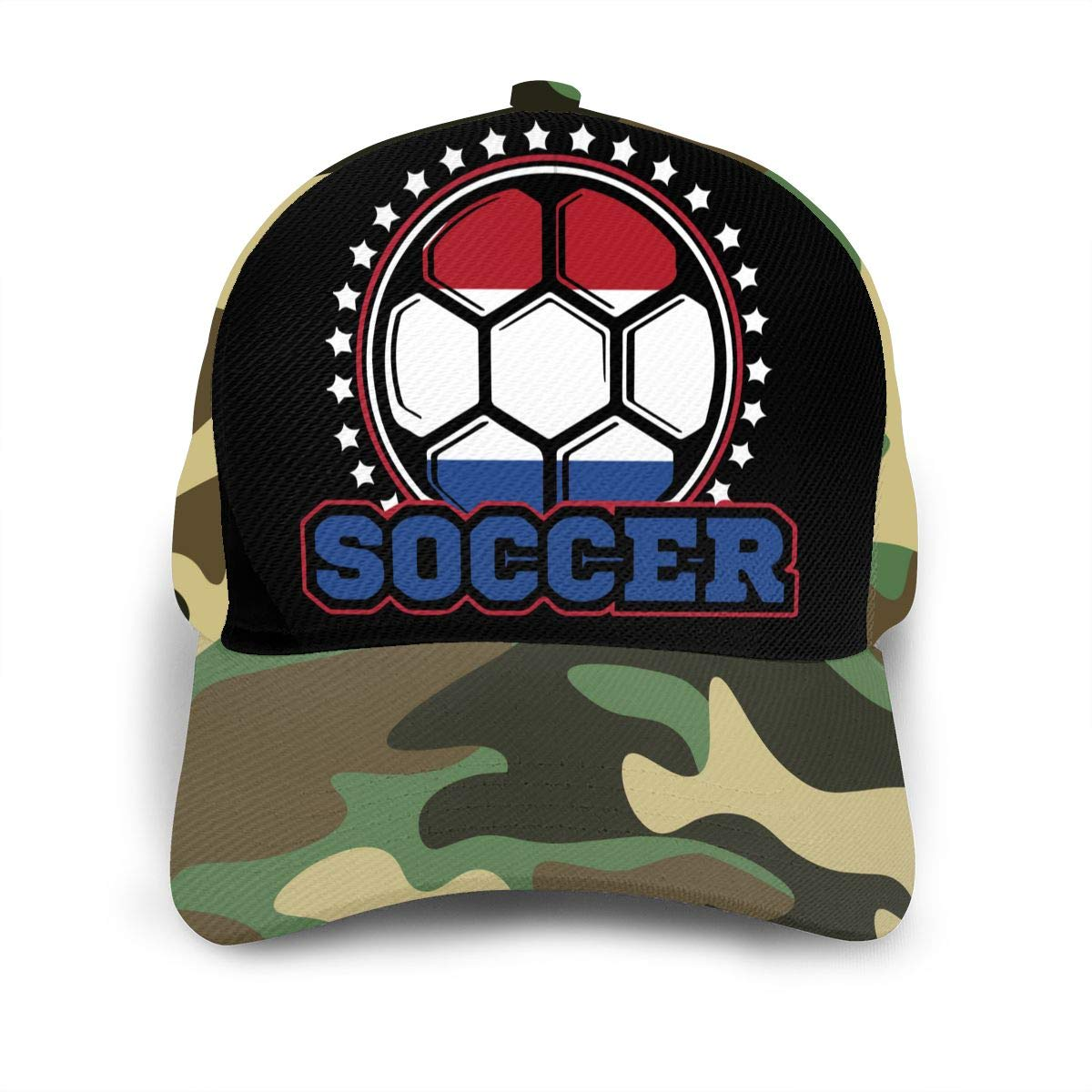 Y94OIW@MAO Netherlands Flag Soccer Player Trucker Hat for Unisex Cotton Sports Cap