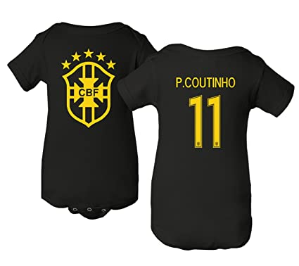 816cc4108 Tcamp Brazil 2018 National Soccer  11 Philippe COUTINHO World Championship  Little Infant Baby Short Sleeve