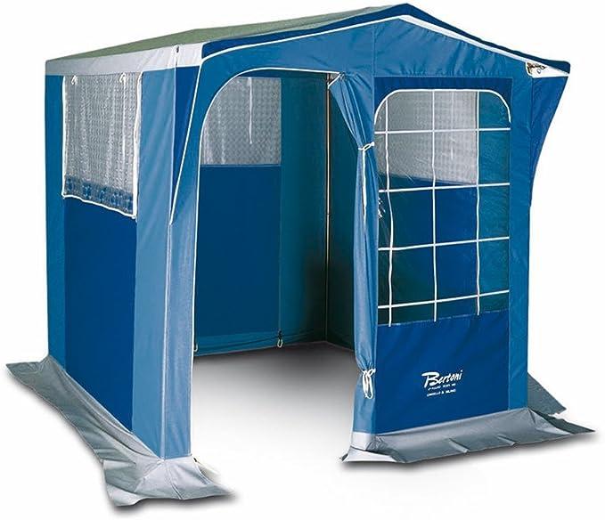 Bertoni PIC080 Pegaso - Cocina Picnic para acampada, Azul claro/Azul oscuro, Altura central: 195 cm, Altura de la espalda: 175 cm
