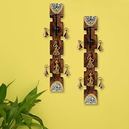 Buy ExclusiveLane Dhokra and Warli Art Living Room Decorative Wall ...