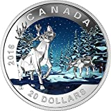 2016 CA geometry in art CARIBOU Geometry In Art Dimensional Design Silver Coin 20$ Canada 2016 Dollar Perfect Uncirculated
