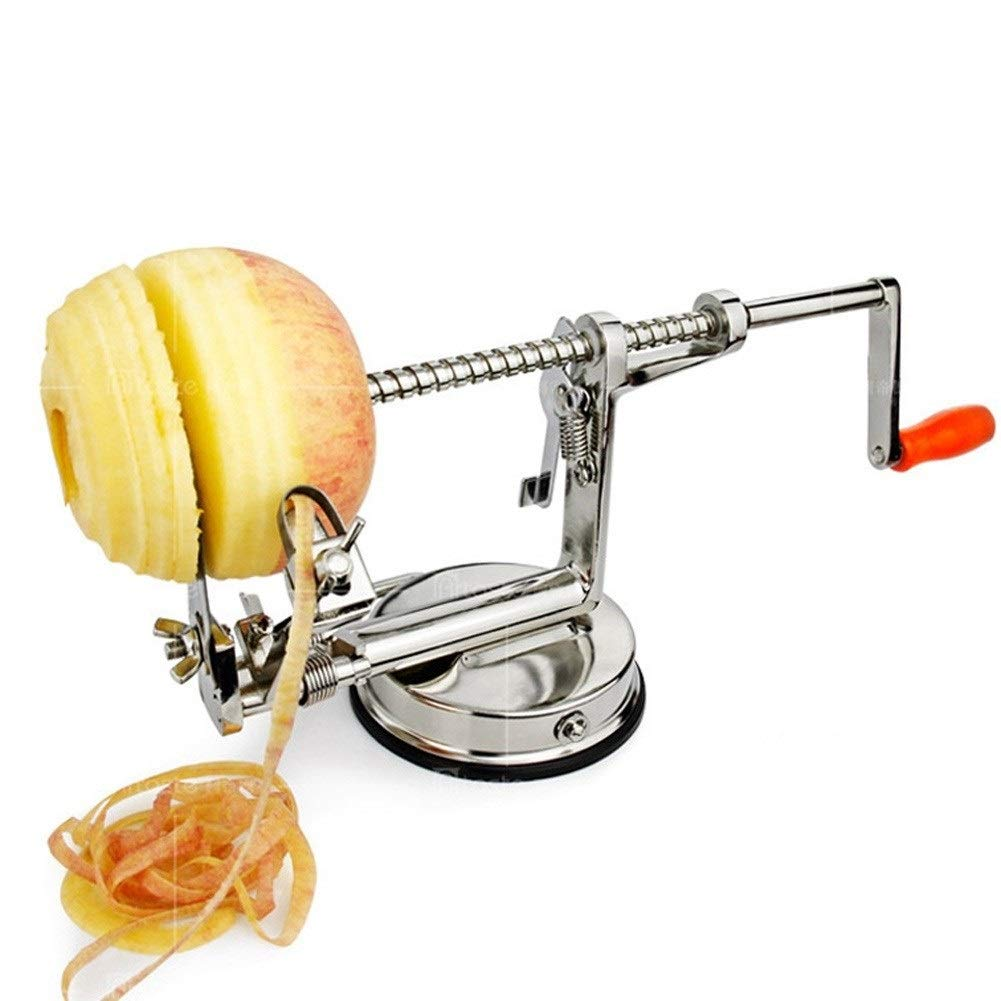 Stainless Steel Apple Peeler Corer Slicer, Durable Heavy Duty Die Cast Magnesium Alloy Fruits Cutter by LHFSM