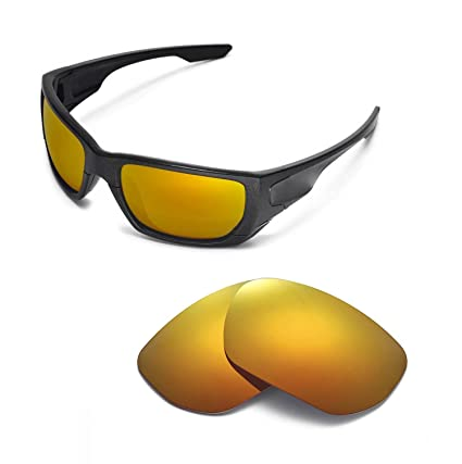 edaf0fabf7525 Walleva Replacement Lenses for Oakley Style Switch Sunglasses - 9 Options  Available (24K Gold Mirror