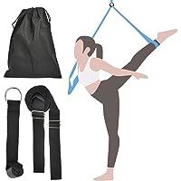 FOROREH Yoga Strap Beenbrancard Stretch Band voor fitness, katoenen fitnessband stretchband met deurbevestigingsband…