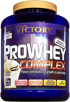 Victory Pro Whey Complex Vainilla, 2 kg. Proteina de suero de leche. De la más alta calidad. Promueve el crecimiento muscular.