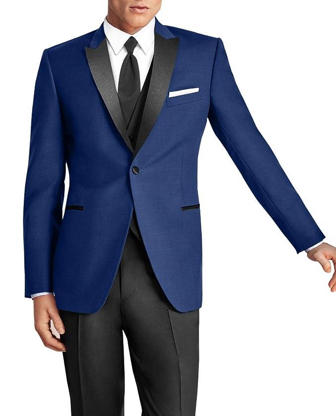 Suit Me Classic Mens 3 Piece Suit 1 Botš®n vestido de novia traje chaqueta Blazer chaleco pantalones: Amazon.es: Ropa y accesorios