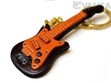VANCA CRAFT#56888 - Llavero de piel para guitarra eléctrica: Amazon.es: Oficina y papelería