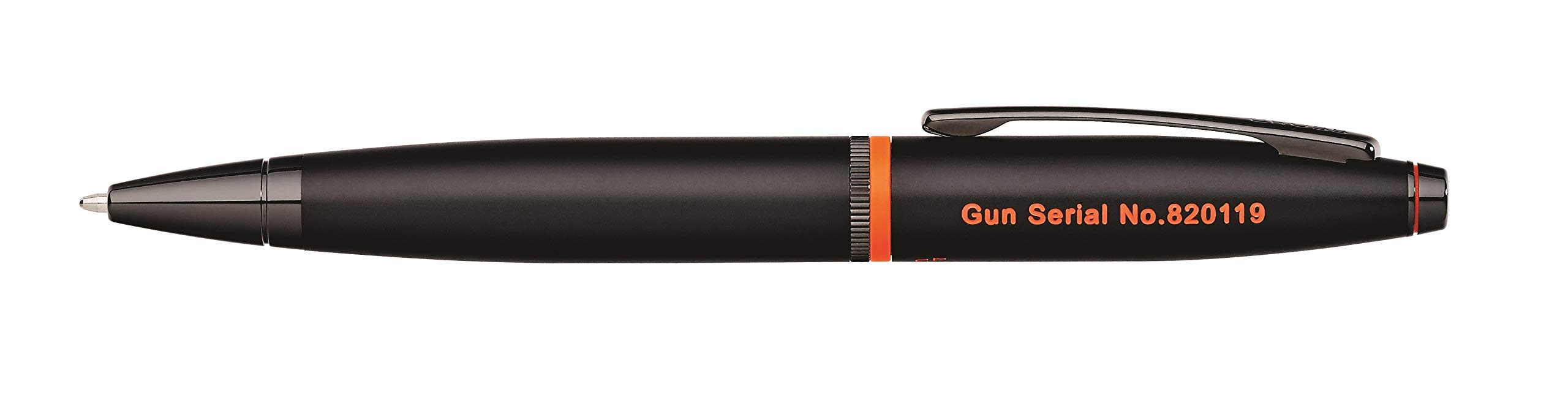 Cross Calais Liberty United Matte Black Lacquer Ballpoint Pen with Glossy Black PVD Appointments by Cross (Image #3)