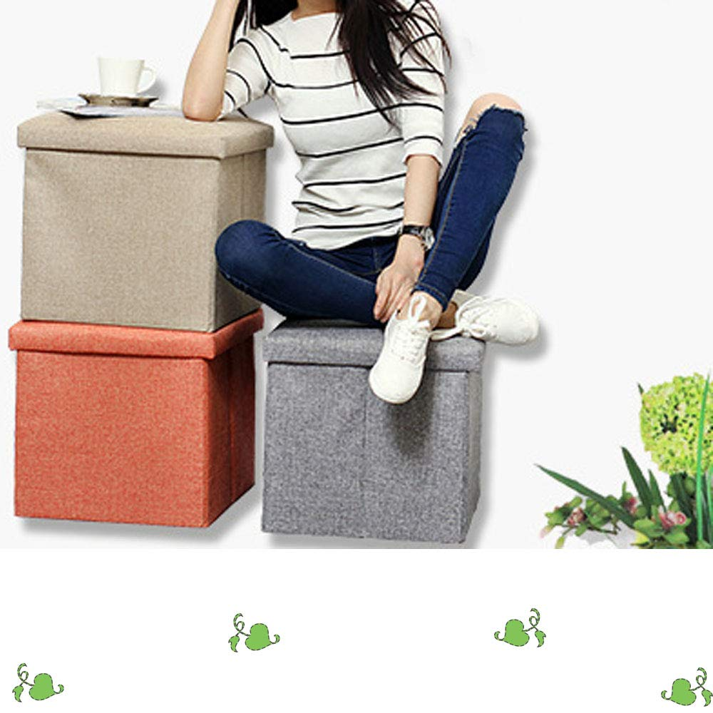 Dwhui Multifunctional Storage Stool Modern Fashion Foldable Storage Footstool Cube Toy Storage Box Suitable for Bedroom Office Home Living Room Storage Seat