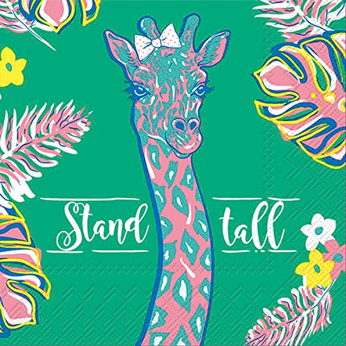 (Celebrate the Home Simply Southern 3-Ply Paper Cocktail Napkins, Giraffe, 20 Count)