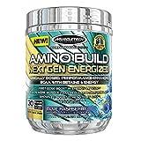 MuscleTech Amino Build Next Gen Energized, Advanced BCAA Powder w/ Energy, Blue Raspberry, 9.96 oz (282g)