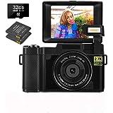 Digital Camera 30.0 MP Vlogging Camera 2.7K Full HD Vlog Camera with 3 Inch Flip Screen and Vlogging Camera for YouTube…