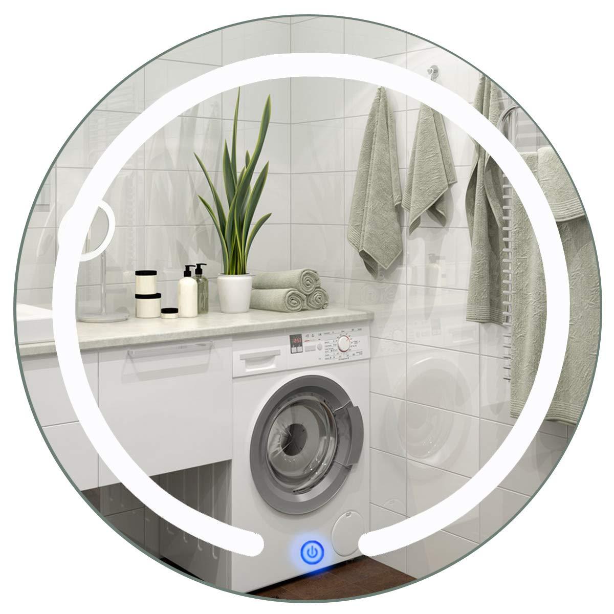 Costway Badezimmerspiegel Mit Beleuchtung Led Badspiegel Spiegel
