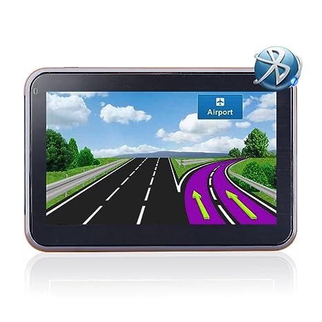 Noza Tec navegadores GPS de 5 pulgadas para coches Bluetooth 8 G GPS navegación Navigator UK