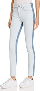 product image for Rag & Bone/JEAN Contrast High-Rise Skinny Jeans, Double Blues, 26