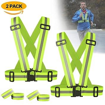 ATNKE 2 Pack Reflektierende Warnweste, elastische und