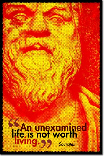 Socrates Art Print An unexamined life is not worth living. Photo Poster Unique Gift Quote