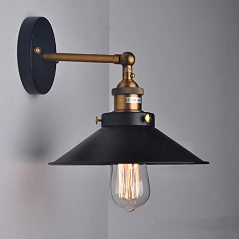 WINSOON MODERN VINTAGE INDUSTRIAL RUSTIC BAR LOFT BLACK METAL PENDANT  CEILING WALL SCONCES LIGHTS FIXTURES